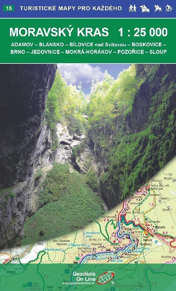 Turisticka Mapa 1 25 000 Moravsky Kras Testy Turistika Cz
