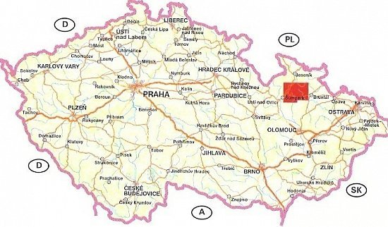 Fotogalerie Turisticka Mapa 1 25 000 Jeseniky Jih Rozsah Uzemi