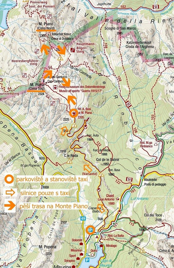 Italie Dolomity 5 Monte Piana Piano Nenapadna Hora S